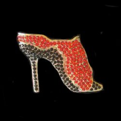 High Heel Logo Pin